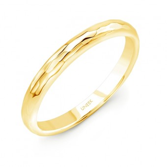 """Uneek """"Martel"""" Stackable Band (Yellow Gold version)"""