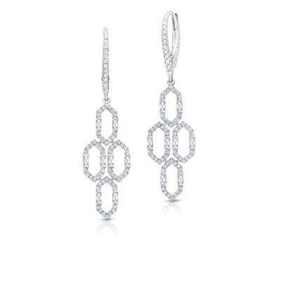 Uneek Dangling Diamond Earring, in 14K White Gold - LVEAD482W