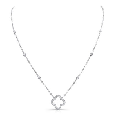 18K White Gold Diamond Necklace LVNM04