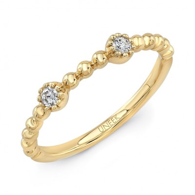 "Uneek ""Las Palmas"" Stackable Diamond Band (Yellow Gold version)"