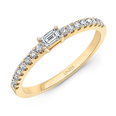"Uneek ""Larrabee"" Stackable Diamond Band (Yellow Gold version)"