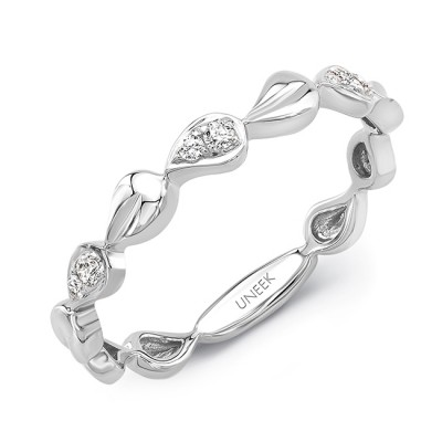 """Uneek """"Heliotrope"""" Stackable Diamond Band (White Gold version)"""