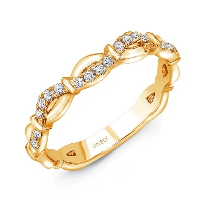 """Uneek """"Mansfield"""" Stackable Diamond Band (Yellow Gold version)"""