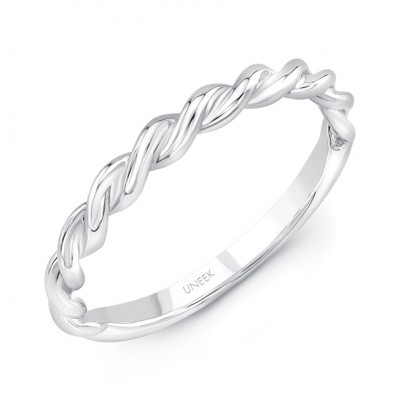 "Uneek ""Doheny II"" Stackable Band (White Gold version)"
