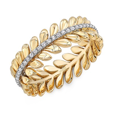 "Uneek ""Venice"" Stackable Diamond Band (Yellow Gold version)"