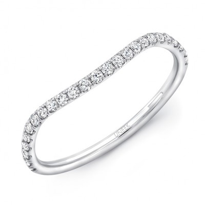 Contoured Pave Diamond Wedding Band from Uneek