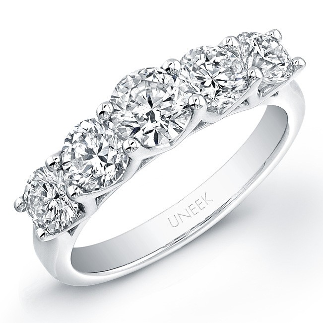 Platinum Round Diamond Wedding Band LVB109