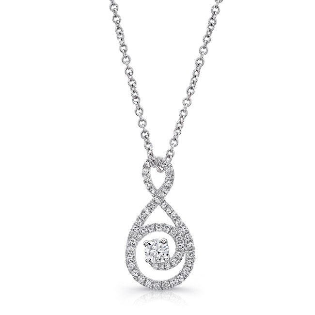 Petite Bouquet Collection 14K White Gold Diamond Pendant LVNJ07