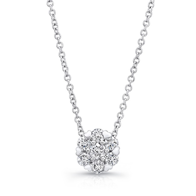 Petite Bouquet Collection 14K White Gold Diamond Pendant LVNJ09