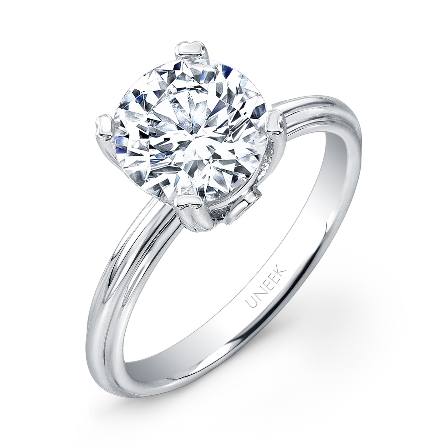1f5621a7821da Uneek Classic 2-Carat Round Diamond Solitaire Engagement Ring with ...