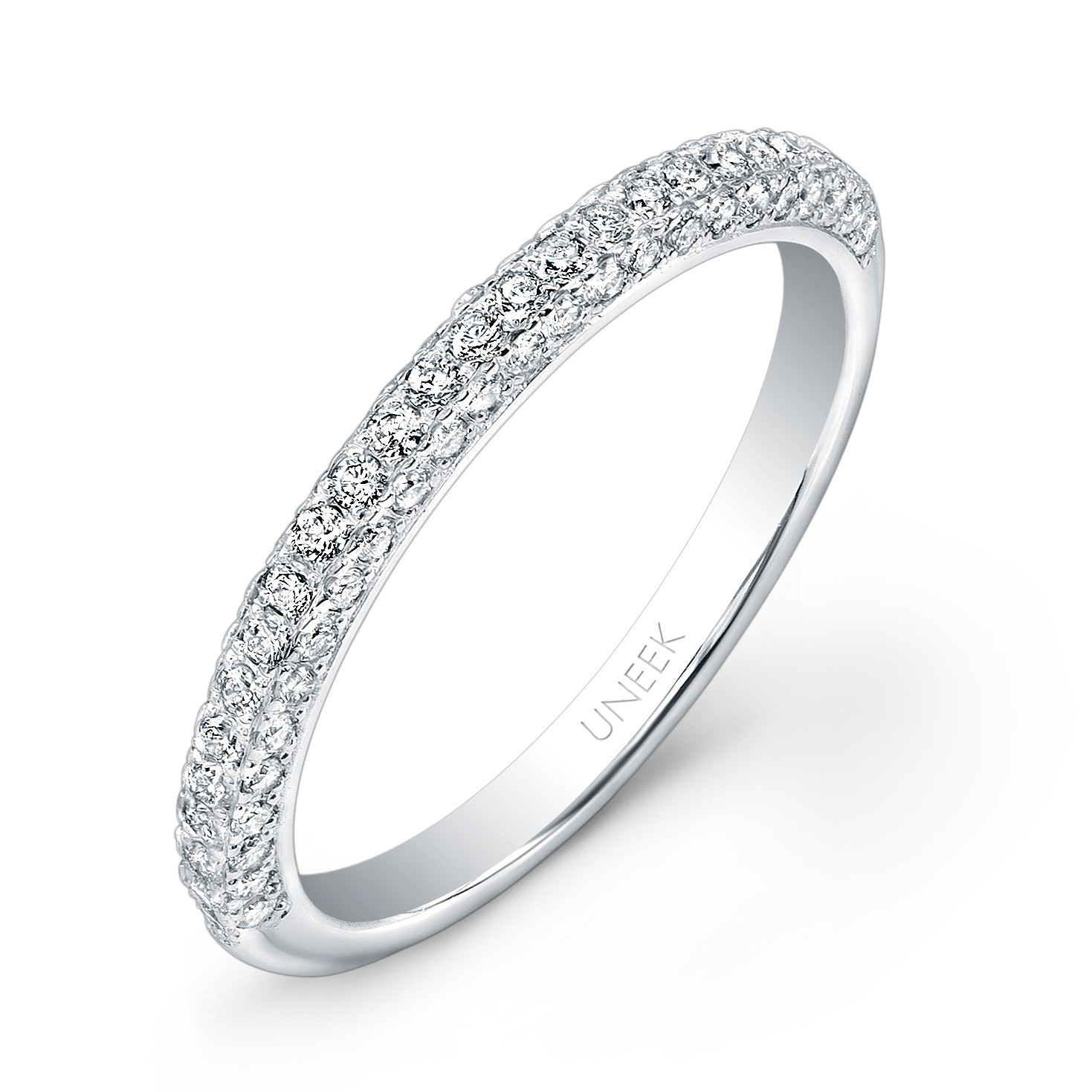 Unity Collection 14K White Gold Wedding Band UWB08