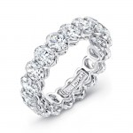 Oval Diamond Eternity Band, in Platinum