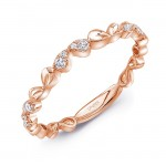 "Uneek ""Mariposa"" Stackable Diamond Band (Rose Gold version)"