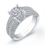Platinum Round Diamond Ring LVS723