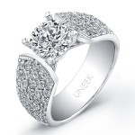 18K White Gold Round Diamond Ring SM792