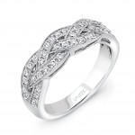 Uneek Crisscross Diamond Wedding Band in 14K White Gold