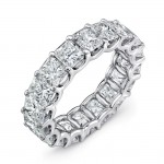 Uneek Radiant Cut Diamond Eternity Band, in Platinum