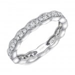 "Uneek ""Highland"" Stackable Diamond Band (White Gold version)"
