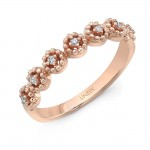 "Uneek ""Beverly"" Stackable Diamond Band (Rose Gold version)"