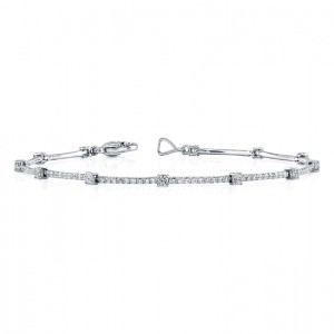 Uneek 18K White Gold and Diamond Bracelet LBR107
