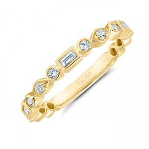Uneek Stackable Diamond Ring, in 14K Yellow Gold - LVBNA1969