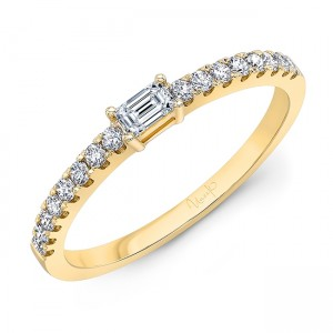 "Uneek ""Larrabee"" Stackable Diamond Band (White Gold version)"