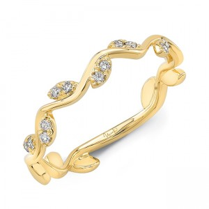"Uneek ""Formosa"" Stackable Diamond Band in 14K Yellow Gold"