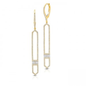 Uneek Dangling Diamond Earring, in 14K Yellow Gold - LVEAD968Y
