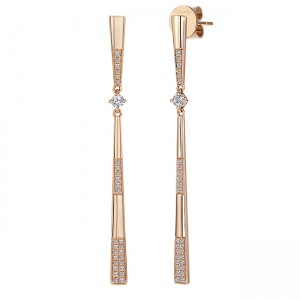 Uneek Dangling Diamond Earring, in 14K White Gold - LVEAS3025W