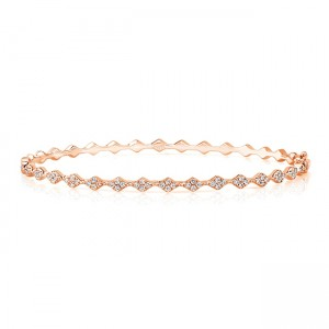 "Uneek ""Mulholland"" Stackable Diamond Bangle, Rose Gold"