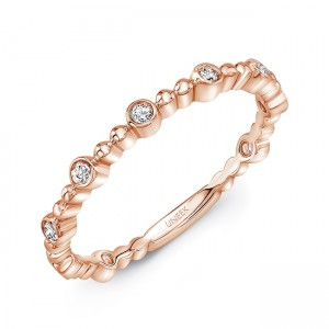 "Uneek ""Wilcox"" Stackable Diamond Band (Rose Gold version)"