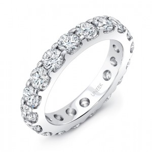 Round Diamond Eternity Band, 3.00 CTTW, in 14K White Gold