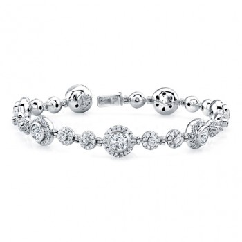 Uneek 18K White Gold Diamond Bracelet LBR157