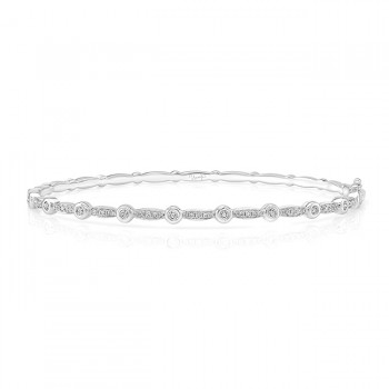 "Uneek ""Santa Monica"" Stackable Diamond Bangle, Yellow Gold version"