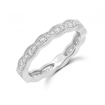 """Uneek """"Highland"""" Stackable Diamond Band (Yellow Gold version)"""