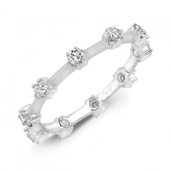 Uneek LVBW4877 Stackable Diamond Band in White Gold