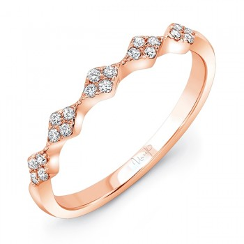 """Uneek """"Mulholland"""" Stackable Diamond Band in 14K Rose Gold"""