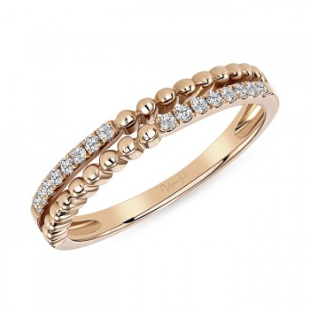 Uneek Diamond Ring, in 14K Rose Gold - LVBWA144R