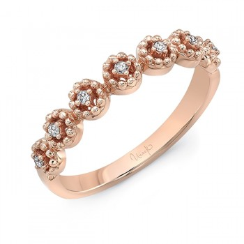 """Uneek """"Beverly"""" Stackable Diamond Band (Rose Gold version)"""
