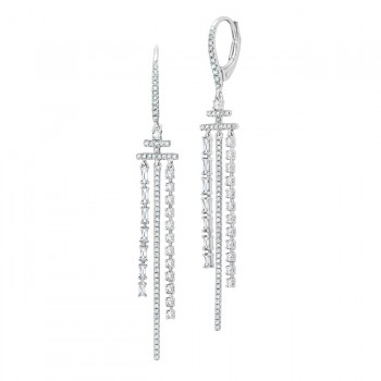 Uneek Dangling Diamond Earring, in 14K White Gold - LVEAD402W