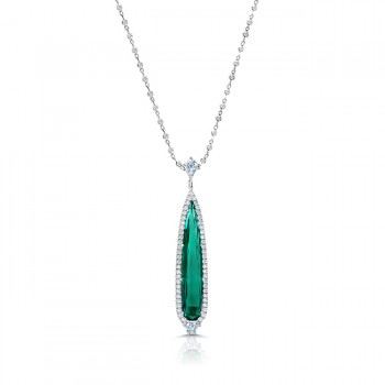 "Uneek ""The RIO ELBAITE"" Indicolite Tourmaline Necklace, in 18k White Gold - LVN935IGT"