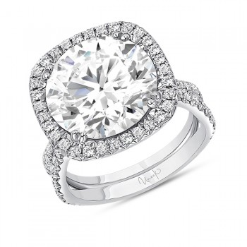 Uneek Round Diamond Engagement Ring, in Platinum