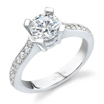 Uneek 18K White Gold Diamond Engagement Ring SW119