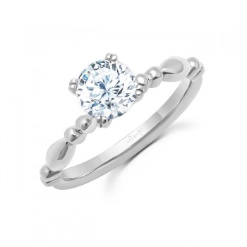 Uneek Us Round Diamond Engagement Ring, in 14K White Gold - SWUSOL05W-6.5RD