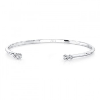 "Uneek ""Primrose"" Open Diamond Bangle, 14K White Gold"